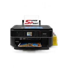 МФУ Epson Stylus Photo PX660 вместе с СНПЧ, чернилами, кабелем USB и фотобумагой