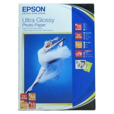 Фотобумага EPSON A4, 15 л, Ultra Glossy Photo Paper, C13S041927