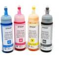 Чернила Epson L100, L110, L120, L200, L210, L300, L350, L355, L550, оригинальные, комплект 4 цвета по 40 мл (T6641, T6642, T6643, T6644)