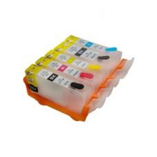 Комплект перезаправляемых картиджей (ПЗК) Canon iP3600,  iP4600,  iP4700; MP540, MP550, MP620, MP630, MP980; MX860