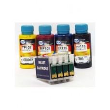 Комплект картриджей Epson (T073) для C79, CX4900, CX5900, CX7300, CX8300, перезаправляемый с авточипом