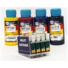 Комплект картриджей Epson (T073) для TX210, TX209, TX213, TX400, TX409, перезаправляемый с авточипом